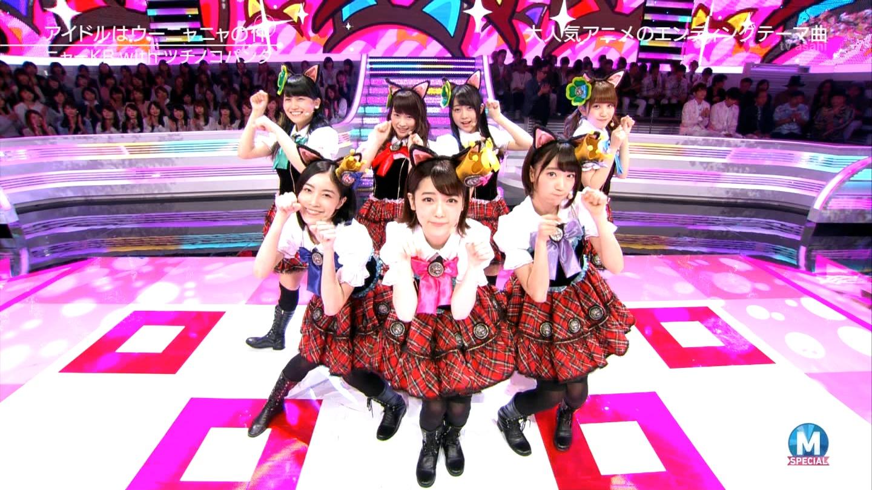 宮脇咲良 Mステ ミュージックステーション ニャーKB 20150403 (78)