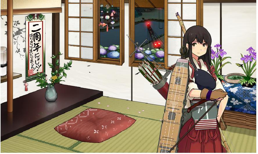艦これ 和室 赤城  (1)