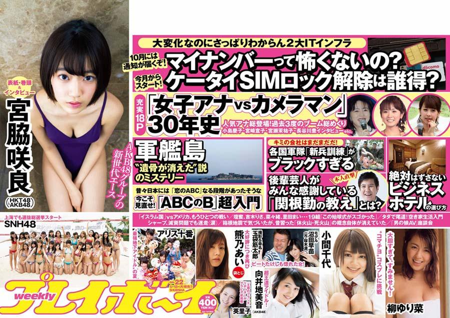 宮脇咲良 向井地美音 SHN48 週刊プレイボーイ 2015年6月1日号 (4)