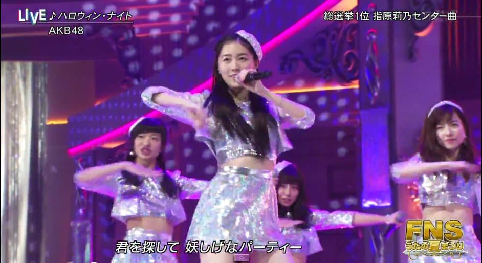 おでこ松井珠理奈かわいかった FNSうたまつりAKB48ハロウィンナイト (1)