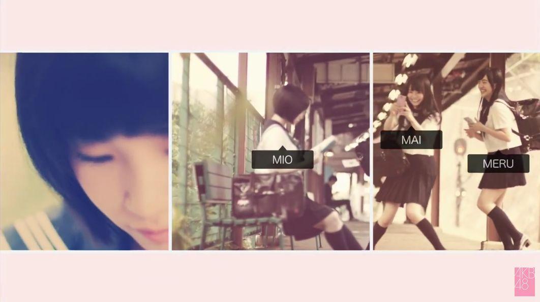 セーラー服の朝長美桜、田島芽留、渕上舞かわいい [AKB48さよならサーフボードMV] (6)