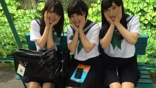 セーラー服の朝長美桜、田島芽留、渕上舞かわいい [AKB48さよならサーフボードMV]