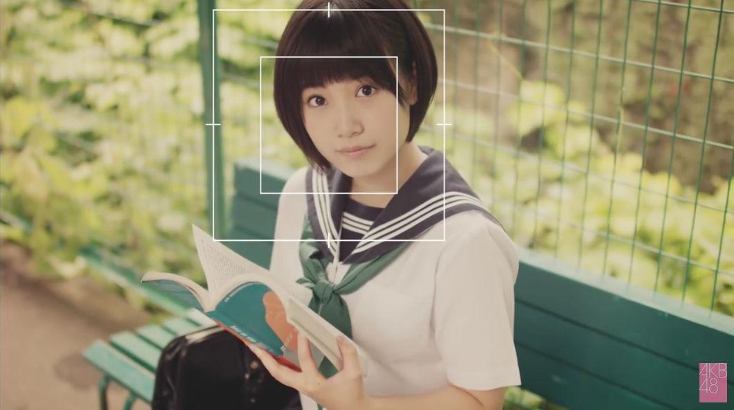 セーラー服の朝長美桜、田島芽留、渕上舞かわいい [AKB48さよならサーフボードMV] (7)