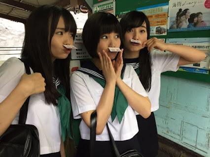 セーラー服の朝長美桜、田島芽留、渕上舞かわいい [AKB48さよならサーフボードMV] (1)