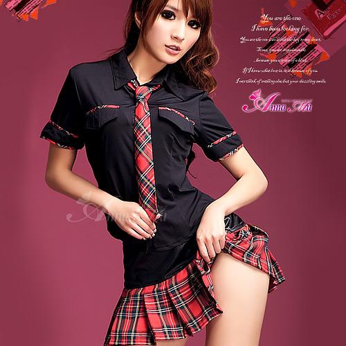 彼女に着せたい AKB風 赤チェック制服   (2)