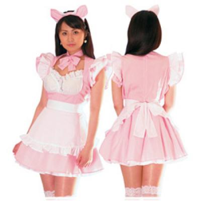 彼女に着せたいメイド服 ピンク
