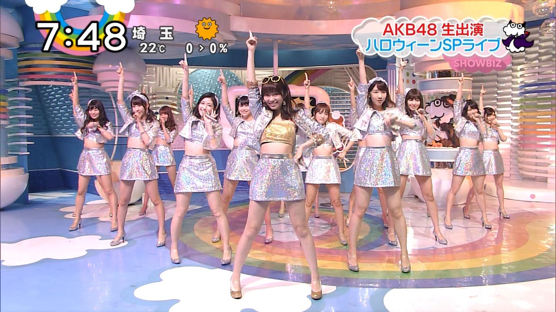 宮脇咲良ロングな ZIP生ライブ AKB48ハロウィンナイト  (14)