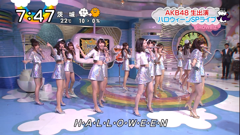 宮脇咲良ロングな ZIP生ライブ AKB48ハロウィンナイト  (11)
