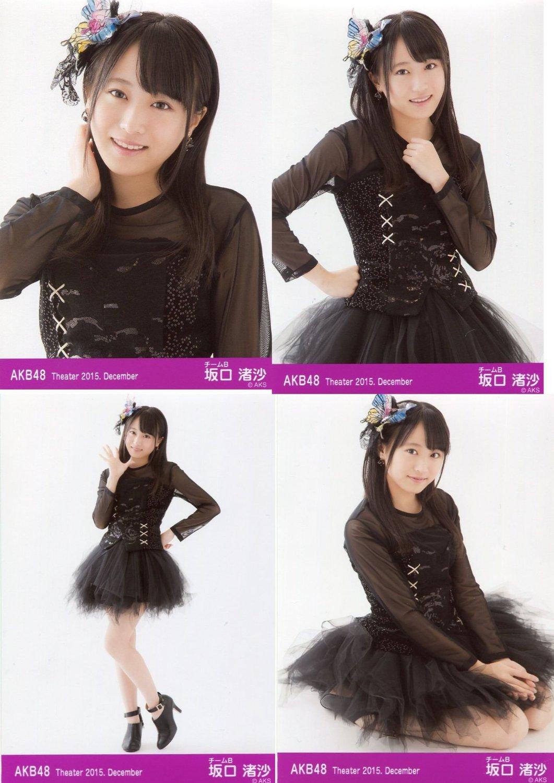 【坂口渚沙】 公式生写真 AKB48 Theater 2015.December 月別12月 4枚コンプ
