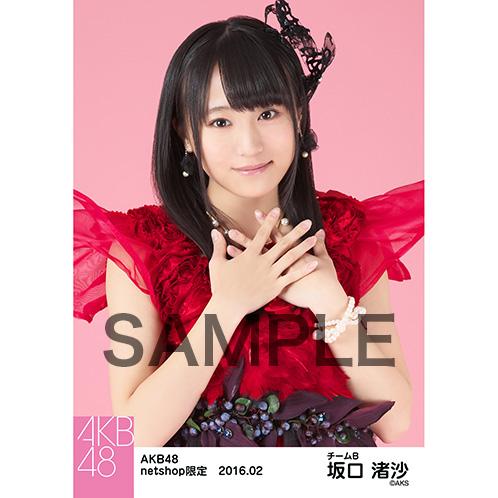 AKB48 2016年2月度 net shop限定個別生写真「赤ドレス」5枚セット坂口渚沙 (3)