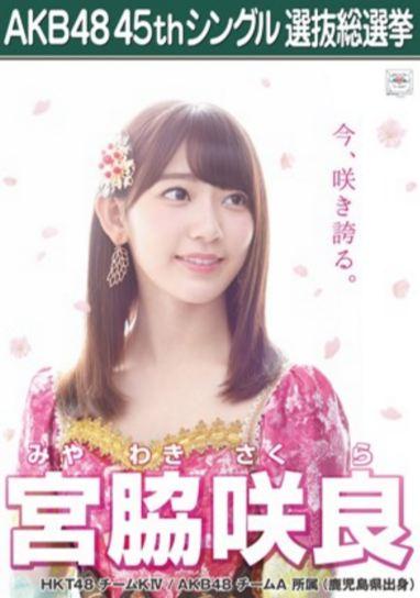 宮脇咲良 総選挙ポスター2016